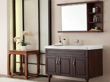 恒洁卫浴:实木浴室柜