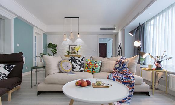 宅居宅修装饰:130平方现代北欧三室两厅
