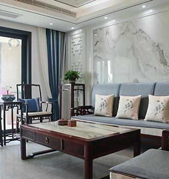 新中式   不老土的新中式 142㎡旧房翻新韵味十足!