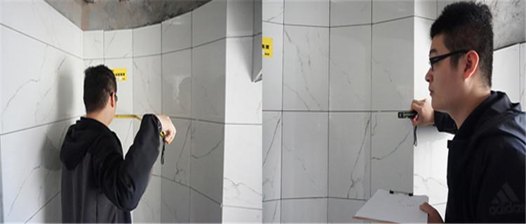 厨房免费改造 瓷砖铺贴基本完工