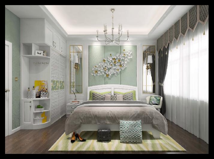 尚品宅配 智搭套餐 主卧【床+衣柜】只要7708元 卧室定制家具 整体衣柜定制
