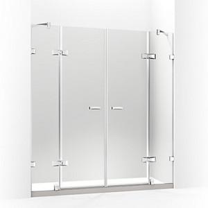 MEMOIRS® 梅玛 开门淋浴房 一字型(两扇固定玻璃 两扇门玻璃)