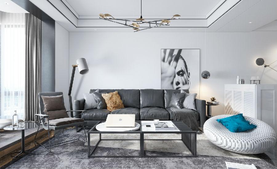 政晨装饰 灰色现代质感
