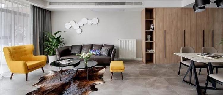 原木现代风三居室,清新的配色让人真喜欢