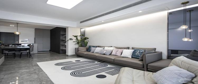 90平的现代简约新家,看设计师如何打造玄关柜与餐厅的完美结合